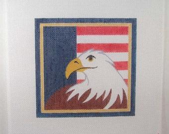 Eagle Needlepoint Square 7x7 - Jody Designs -S5