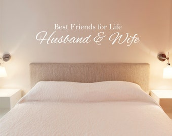 Best Friends for Life Husband and Wife Wall Decal Sticker