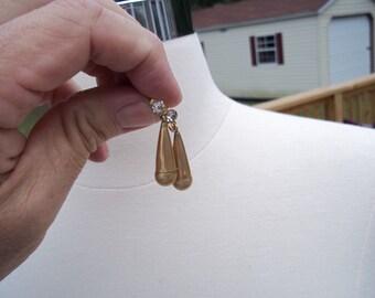 1/20th 12K Gold Filled Amco Teardrop Screw Back Earrings