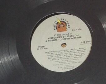 Stars On 45 III Tribute To Stevie Wonder Performed By Stars On Sealed Vinyl Soul Disco Record Album