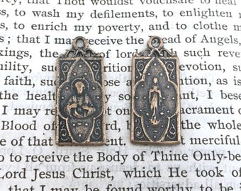 Jesus - Sacred Heart Medal - Immaculate Conception- Bronze or Sterling Silver - Catholic Medal (M42-435)