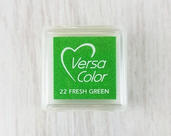 VersaColor Pigment Ink Pad Small in Fresh Green Ink for stamp - Inkpad for Rubber Stamp - Versa Color - Colour Ink Pad - Green Ink Pad