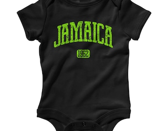 Baby Jamaica Romper - Infant One Piece - NB 6m 12m 18m 24m - Jamaica Baby, Reggae Baby, Kingston, Montego Bay, Negril, Ska - 3 Colors