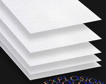 "Canvas Sheet Fabric Sheet Transfer Paper | Printable Inkjet Fabric Sheet | Printer Laser Transfer Paper | 8.5"" x 11"" Cotton Canvas | VViViD"