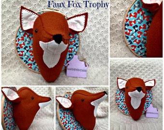 Handmade To Order Felt Fox Faux Taxidermy Trophy Head