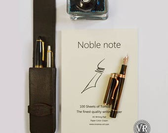 NOBLE NOTE Writing Pad.100 Sheets, Cream color, A5 148X210 mm.Fountain Pen Paper. Report Pad. Tomoe River Notebook. Luxury writing paper.