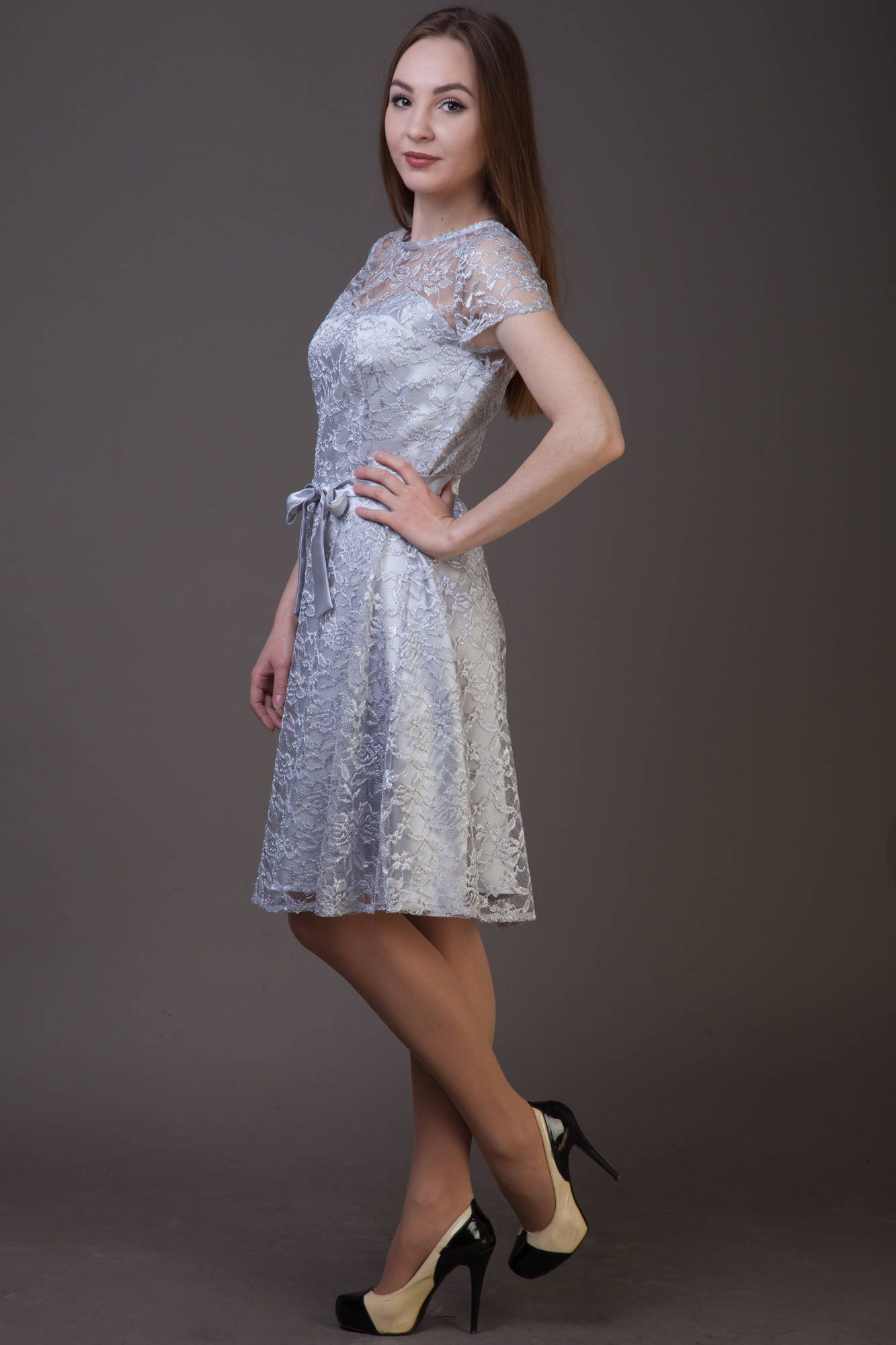 Clearance one size sale silver bridesmaid dress silver gray zoom ombrellifo Image collections