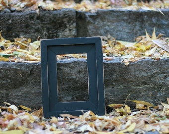 CHOOSE YOUR COLOR Antique Stepped Picture Frame, Choose Your Size (4x6, 5x7, 6x8, 8x10, 11x14, 12x16, 16x20, 16x24, Custom) Black