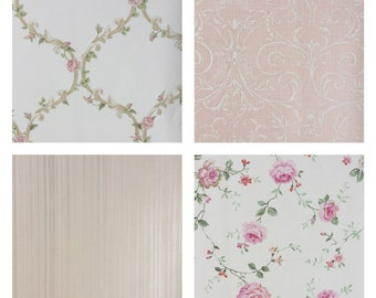 Large, Over Sized, Pastel Pink, Wallpaper Sheets - Set of 12 sheets - Group 10