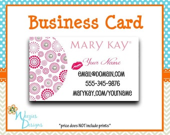 Mary Kay Business Card, Direct Sales Marketing, Independant Consultant, Directs Sales Business Card