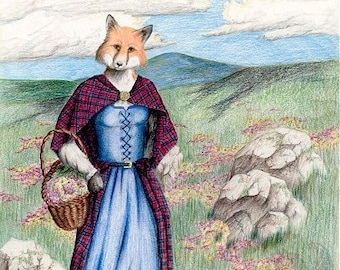 Heather on the Moor - Original  Colored Pencil