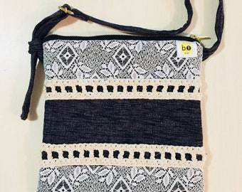 Crochet & Lace Adjustable Satchel
