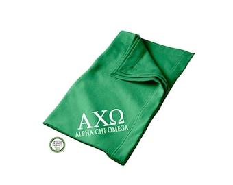 Alpha Chi Omega Blanket, Sorority Throw Blanket