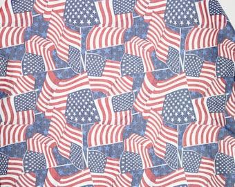 Vintage Flag Bandana | 90s American Flag Kerchief Scarf
