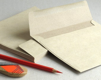 """50 A7 Light Brown Kraft Envelopes for 5x7 cards and photos - Strait Flaps (5 1/4""""x7 1/4"""")"""