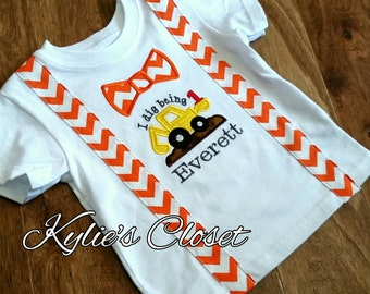 Adorable Construction - inspired 1st Birthday T-shirt for Boys - Suspenders - Bow Tie - Party - Celebration - Photo Shoot