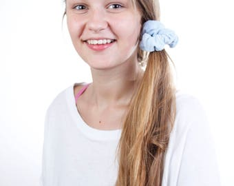 Beauty Routine Powder Blue Terry Cloth Scrunchie
