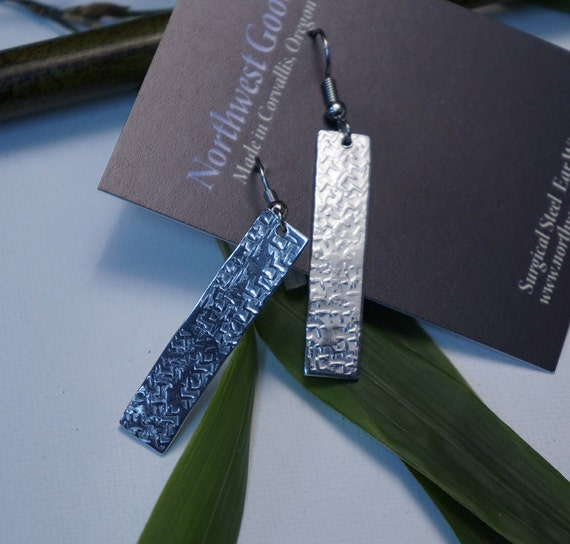 Aluminum bar earrings