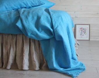LINEN SHEETS SET  4 pcs linen fitted sheet flat sheet two pillowcases  Single Full Double Queen King California King size 100% Organic Flax