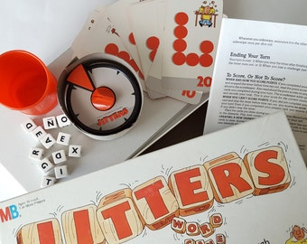 1986 Jitters Word Game, Milton Bradley, Complete, in Like New Condition
