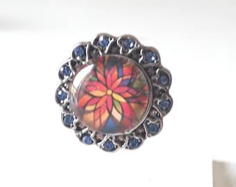 Pretty multicolored snap ring