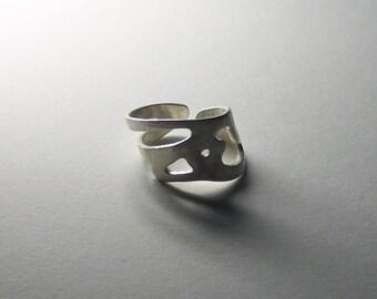 bird ring cuff handmade in 925 Sterling Silver