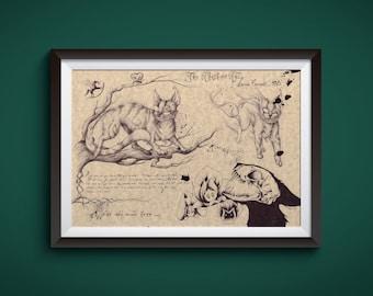 Large - Cheshire Cat - Alice in Wonderland Art Print