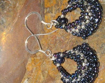 goldstone and sterling silver earrings