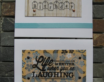 life is better when you're laughing blank inside cards