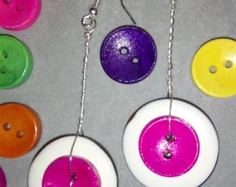 Pink pendulum earrings