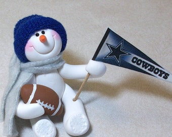 Dallas Cowboys: snowman ornament