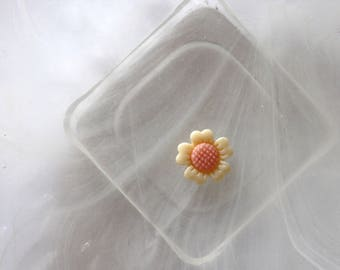 small yellow and orange cabochon flower scrapbooking