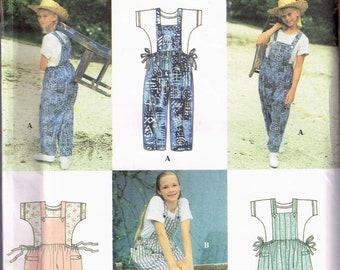 Size 12-14 Girl's Overalls Sewing Pattern - Girls Bib Overalls Pattern - Overalls Shorts Pattern - Overalls Jumper Dress - SImplicity 9468