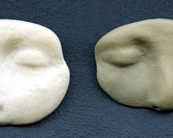Faces 2 partial faces 1 Faux Stone and one Faux Bone  Polymer Clay  Shards  FSHP  2