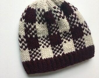 Women's Plaid Winter Hat