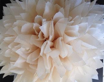 1 Khaki Tissue Paper Pom Pom, Pom Pom, Neutral Pom Poms, nursery decor, wedding decoration, party supplies, party decorations, dessert table