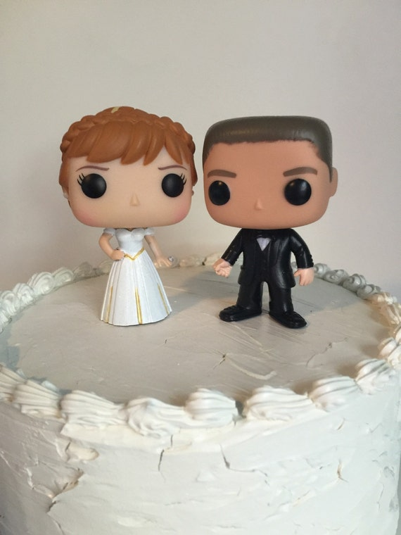 disney wedding cake toppers canada custom funko pop and groom wedding cake topper set 13593