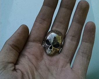 Skull Ring -  Statement Ring - Made of Steel