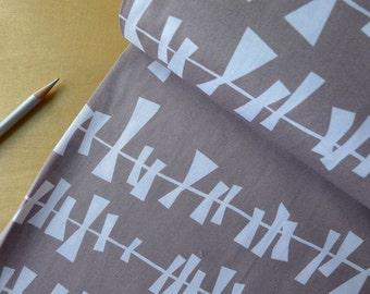 GLIMMA Lotta Jansdotter - Drake Grey-Flannel-colored- Half Yard - Modern Quilting Sewing Craft Cotton Fabric