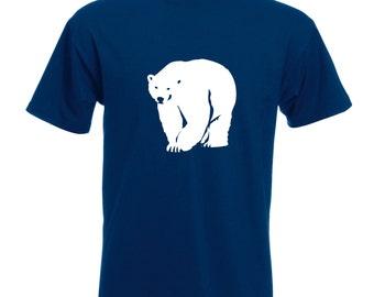 Mens Polar Bear T-Shirt Polar / Alternative To A Christmas Jumper