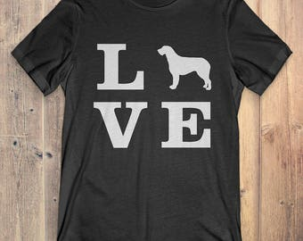 Irish Wolfhound Dog T-Shirt Gift: I Love Irish Wolfhound
