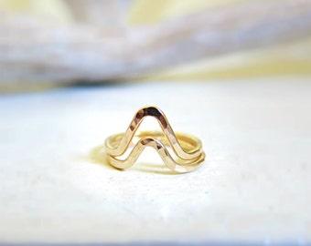 SALE Double Chevron Knuckle Rings