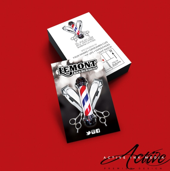 Barber business card design barber salon hair stylist colourmoves