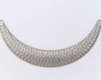 98mm Matte Silver Textured Collar Pendant #MFB168