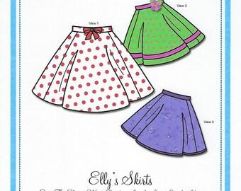 Bonnie Blue Pattern #136 / ELLY'S SKIRTS / Sizes 2 yr to 10 yr