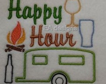 Happy hour, camping.