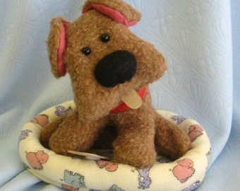 Puppy Sewing Pattern - Stuffed Toy Puppy - DIY Toy PDF - Cute Puppy Pattern