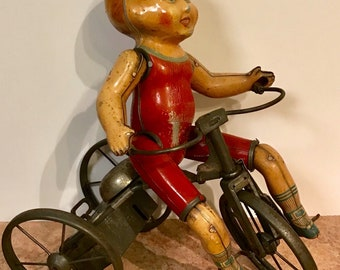 SOLD.....Marx Wind-Up Cyclist