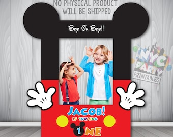 Mickey Mouse Photo Booth, Photo Booth Frame Printable, DIY Photo Booth Frame Mickey Mouse