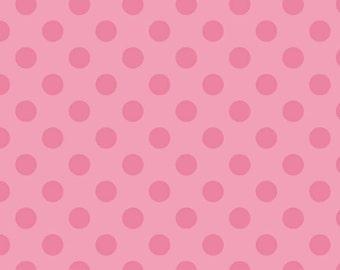 Medium Dots Hot Pink - Medium Tone on Tone  Dots - 1 Yard  Cut - Hot Pink Dots - Riley Blake Designs - Cotton Fabric